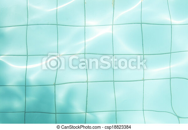 Surface of the pool - csp18823384