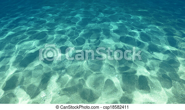Surface of the sand under water - csp18582411