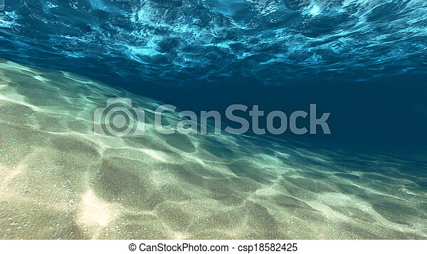 Surface of the sand under water - csp18582425