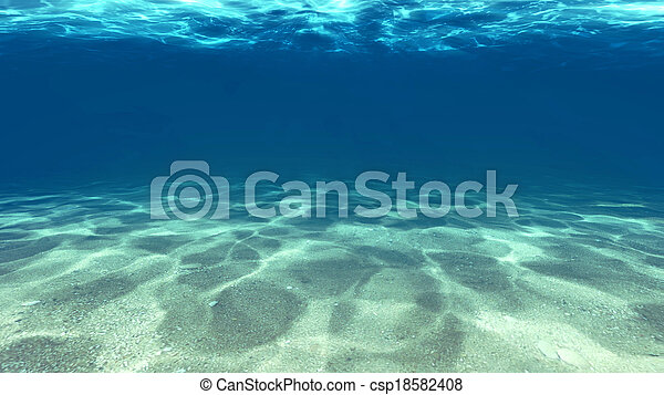 Surface of the sand under water - csp18582408