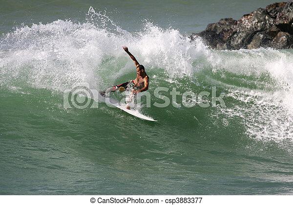 surfen, welle - csp3883377