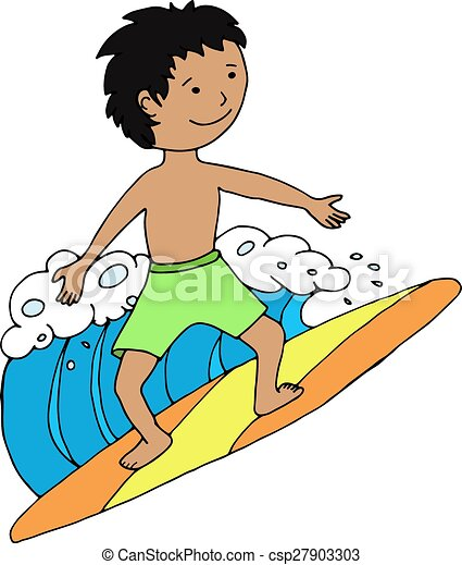 surfer boy riding the wave vector illustration vector clipart rh canstockphoto co uk surfing clipart png kite surfing clipart