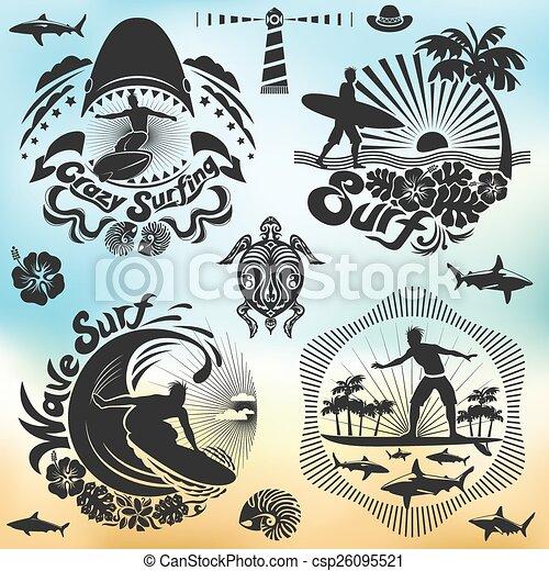 surfer, fale przybrzeżne, ferie - csp26095521