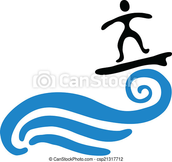 surfer on the wave vector illustration surfer and the vector rh canstockphoto com wave vector free wave vector art