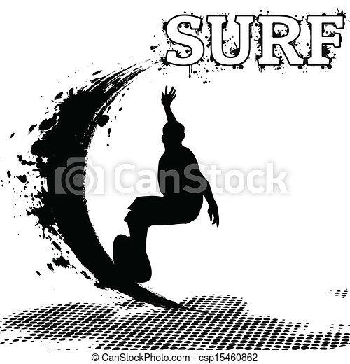 Surfer silhouette - csp15460862