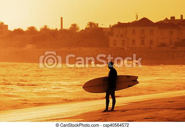 Surfer Silhouette - csp40564572