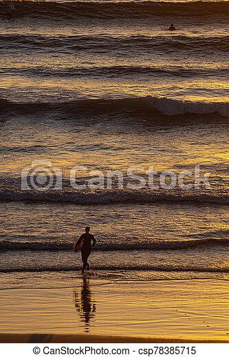 surfer silhouette - csp78385715