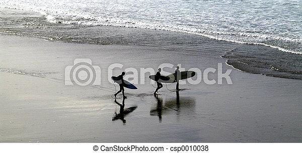 Surfer silhouette - csp0010038