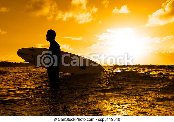 Surfer silhouette - csp5119540
