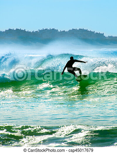 surfeur, vague - csp45017679