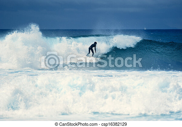 surfeur, vague - csp16382129