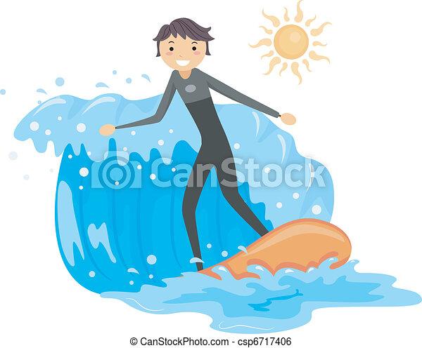 Surfing - csp6717406
