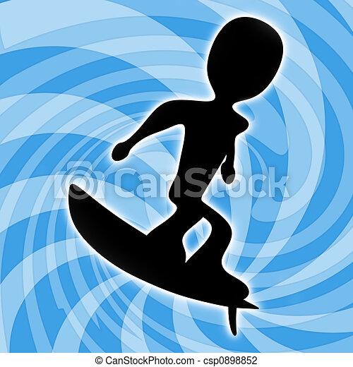 Surfing - csp0898852