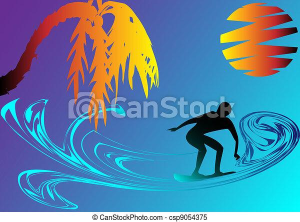 surfing - csp9054375