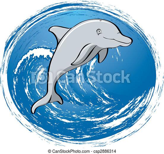 Surfing dolphin - csp2886314