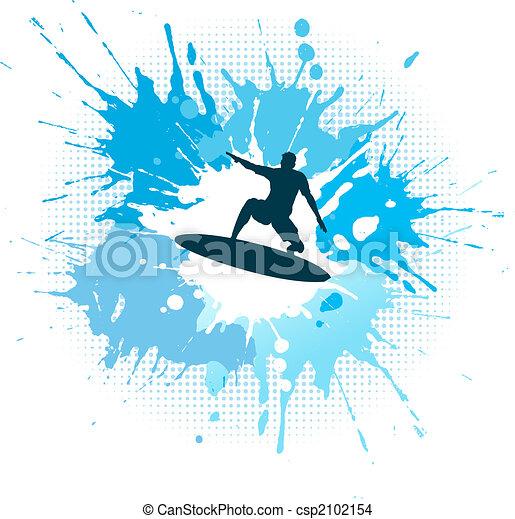 Surfing grunge - csp2102154