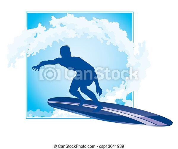 surfing icon - csp13641939