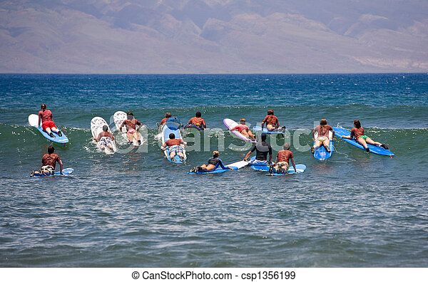 Surfing Lessons - csp1356199