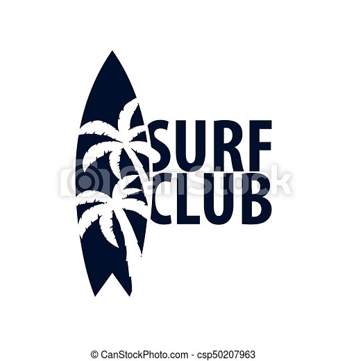 Surfing Logo And Emblems For Surf Club Or Shop Vector Illustration