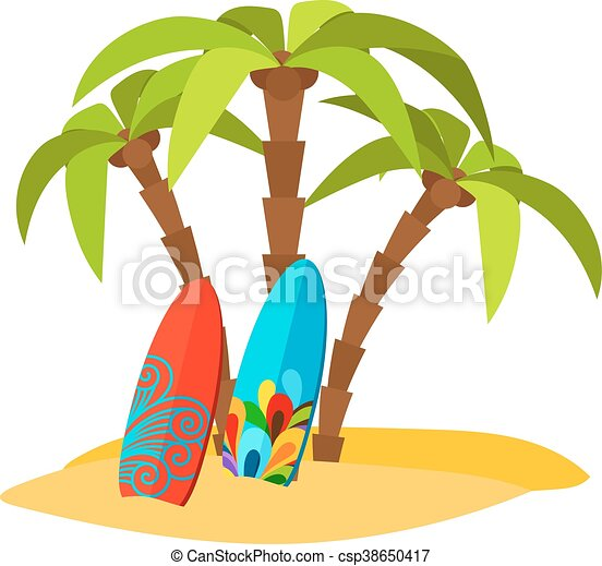 surfing pacific beach vector flat print with palm trees and rh canstockphoto com beach vector black and white beach vector free download
