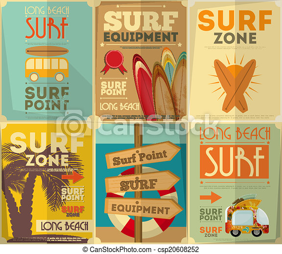 surfing posters collection - csp20608252