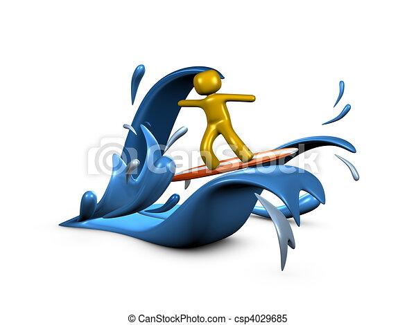 Surfing - csp4029685