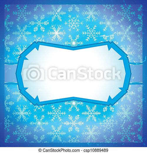 surgelé, cadre, flocons neige - csp10889489