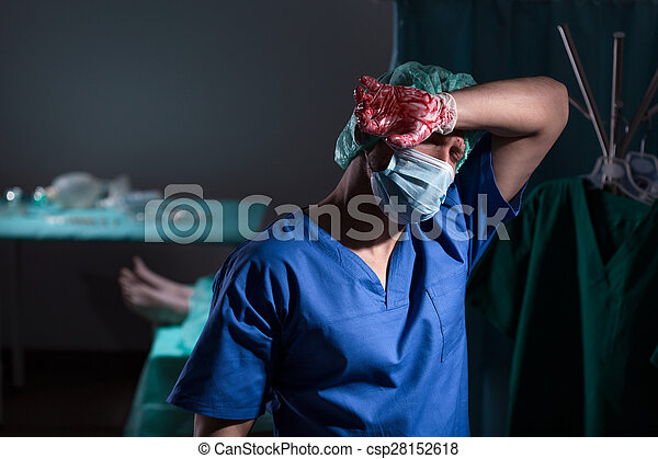 Surgeon after operation - csp28152618