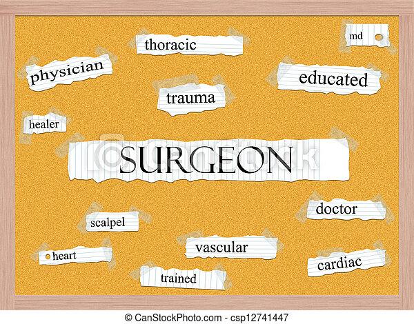 Surgeon Corkboard Word Concept - csp12741447