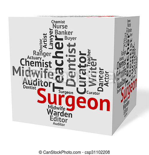 Surgeon Job Shows General Practitioner And Md - csp31102208