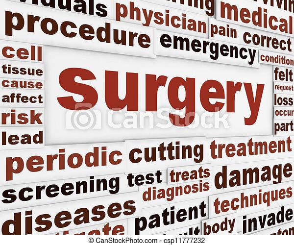 Surgery medical poster - csp11777232