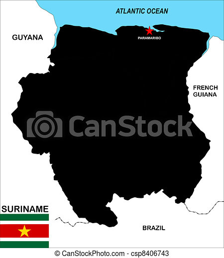 Suriname map Very big size suriname political map drawings