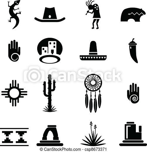 iconos del suroeste - csp8673371