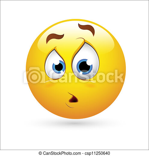 surpresa, smiley, expressão, ícone - csp11250640