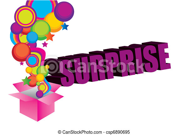 violet pink yellow blue green surprise box background rh canstockphoto com surprise clip art free surprised clipart free