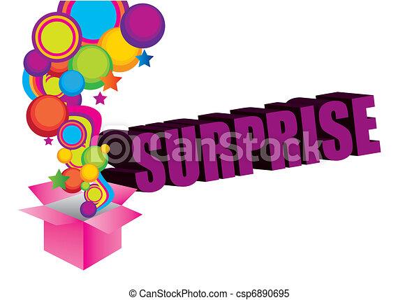 violet pink yellow blue green surprise box background rh canstockphoto com surprise clip art free surprise clip art images