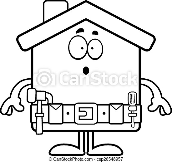 surprised cartoon home improvement a cartoon illustration rh canstockphoto com home improvement clipart free home improvement clip art free