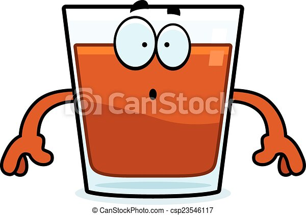 surprised cartoon shot glass a cartoon illustration of a vector rh canstockphoto com red shot glass clipart