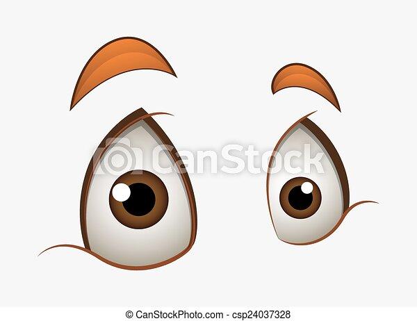 Surprised eyes expression. Cartoon surprised shocked eyes ...