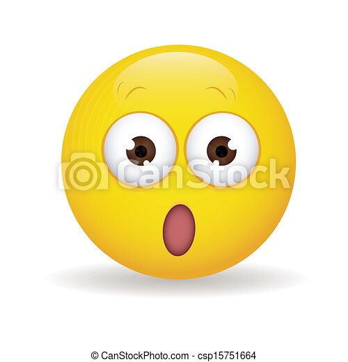 surprised face abstract surprised yellow face on white clip art rh canstockphoto com surprised happy face clip art shocked smiley face clip art