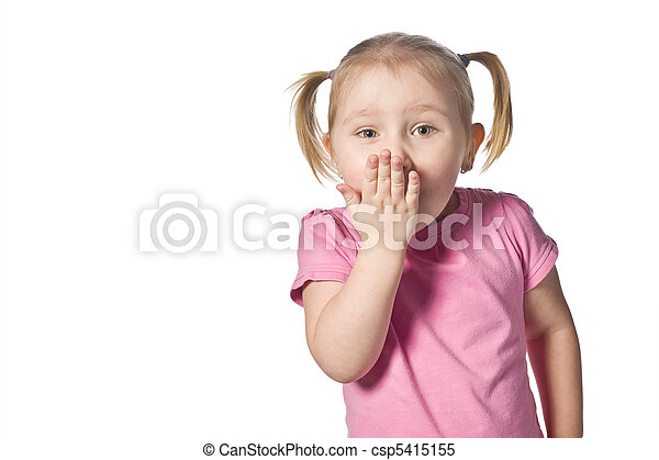 surprised girl - csp5415155