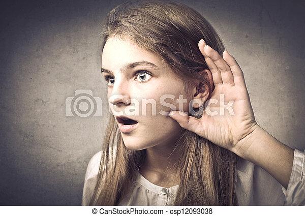 surprised girl - csp12093038