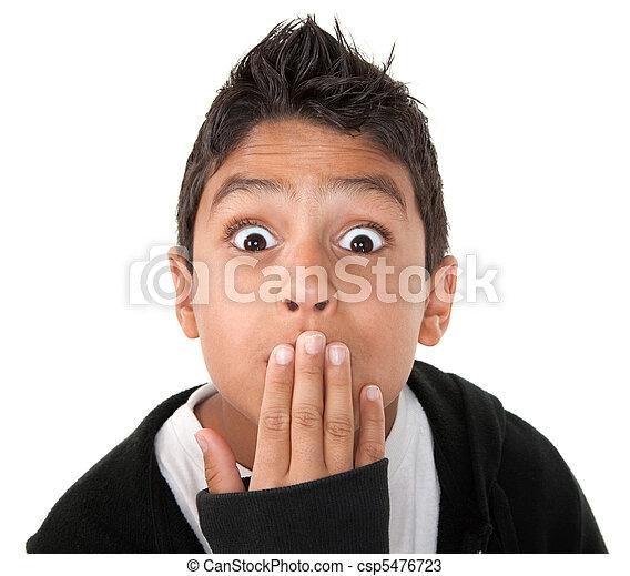 Surprised Hispanic boy - csp5476723