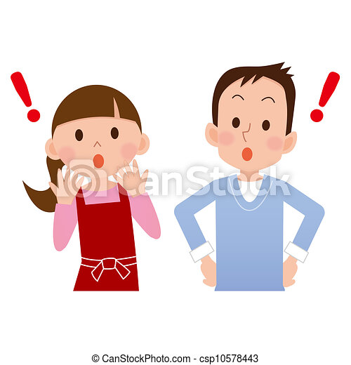 surprised man and woman drawing search clip art illustrations and rh canstockphoto com Old People Old People Clip Art
