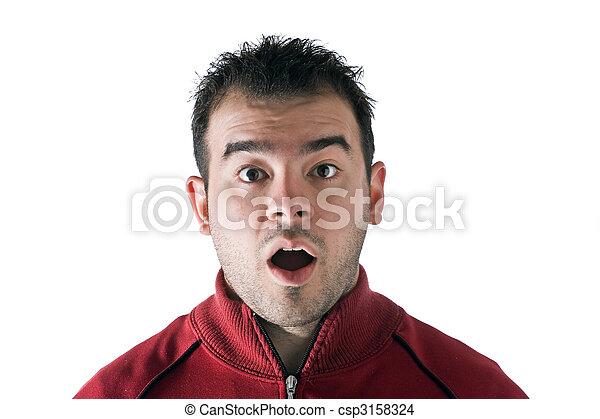 Surprised Man - csp3158324