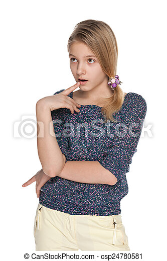 Surprised young girl - csp24780581