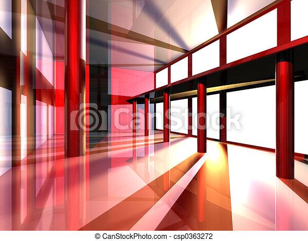 surréaliste, architecture - csp0363272