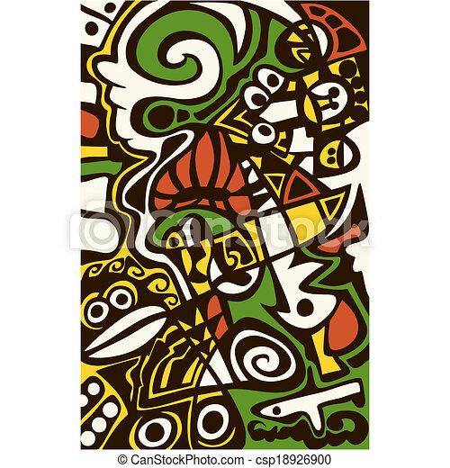 Surreal abstract design, mosaic texture. - csp18926900