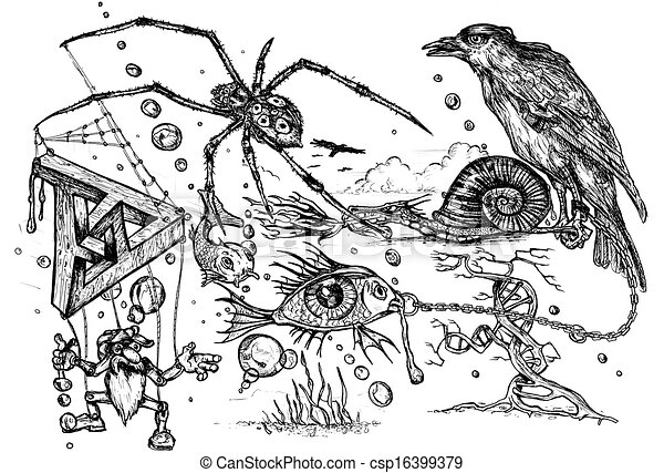 Surreal Doodle - csp16399379