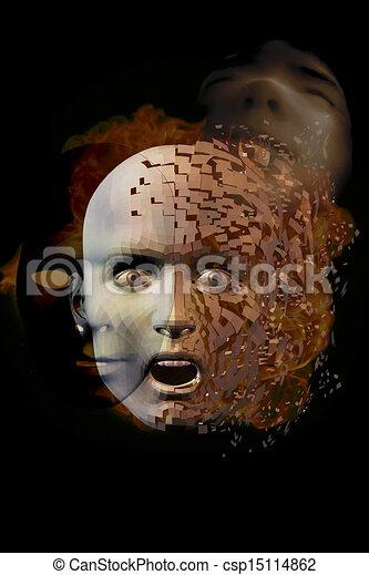 Surreal Face - csp15114862